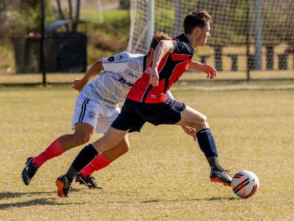 Soccer player from The Lakes FC who rehabilitation from a quad strain in his first match back.